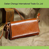 Fashion leisure ladies genuine leather shoulder bag with long straps