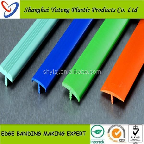 plastic rubber T molding edge trim for table countertop edge banding ...