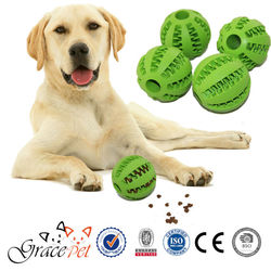 [Grace Pet] Rubber material dog chew toy ball teeth grinding