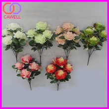 7 heads artificial tea rose from yiwu flower market