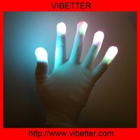 Optical Fiber LED Flashing Gloves Colorful Finger Light Shinning Magic Glove Raver Party Decorations