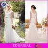 Elegant Off Shoullder Long Tulle Ivory Mermaid Wedding Dress With Beaded Sash