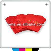 Unique design red packet envelope printing with top quality