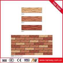 Super quality 6x24 porcelain exterior clinker tile for wall