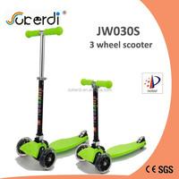 mini maxi 120/80mm PU wheel plastic nylon deck aluminum folding T bar foot push scooter trike