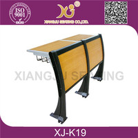 hot sale and good quality attached school desks and chair XJ-K19