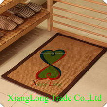 100% natural fiber non-slip sisal door rugs latex backed