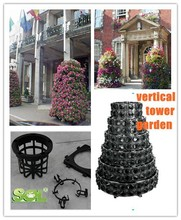 landscape decoration vertical garden tower planter hydroponic tray