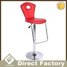 Cheap space saving pvc material comfortable leisure bar stool