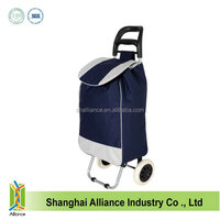 600D polyester wheeled market foldable shopping trolley bag ALD459