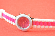 beautiful multi-color band silicone summer watch,hot reloj