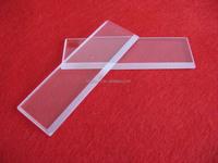 Processing clear quartz plate