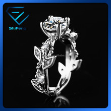 SF-R01 2015 Rhodium Plated Top Quality AAA+ Clear CZ Filigree New Model Wedding Ring