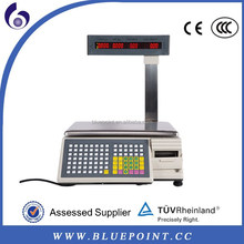 New design barcode label printing scale/electronic scales with print out