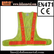 Hot Style CE & EN471 Approved Mens' Work Luminous Safety Vest