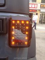 Hot Sale led tail light square for jeep wrangler European rite led rear light