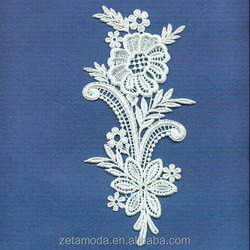 alibaba whole sale guipure white gridding appliques for curtains