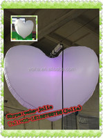 1.5m customized hanging white inflatable heart shape