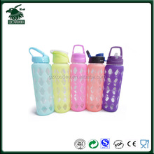 BPA FREE Large Wide Mouth Food Grade Screw Cap Glass Bottles For Water