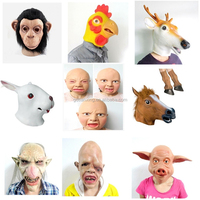 Latex Scary Mask Halloween Adult Costumes
