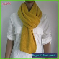 Hot selling Winter ladies cashmere feel long scarf knitted shawl plain color