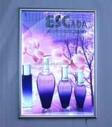 High bright slim aluminum led lighted frame for advertising