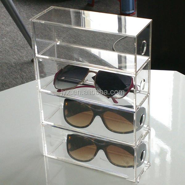 Merveilleux Specifications. White Acrylic Sunglasses Storage Box