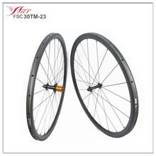 New Arrival U shape carbon wheels 30mm deep 23mm wide tubular bicycle carbon fiber wheelset edhub Sapim cx-ray spoke UD Matte