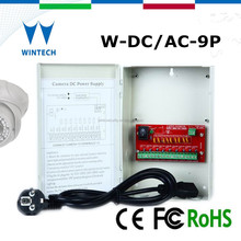 DC/AC 9channels digital power supply,power supply output for security cam