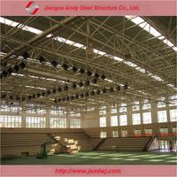 Prefab metal building roofing for badminton room