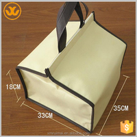 New arrival insulated cheap blank tote collapsible non-woven cooler bag