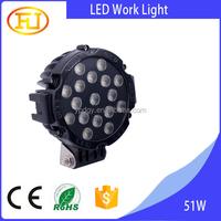 Hot sale cars,jeep,auto parts 51w led work light ip68 12v led headlight