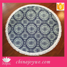 Circle Pattern Printed Round Yoga Mat, Round Towel for Picnic and Travel