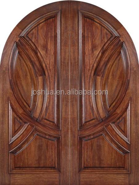 Arrondi acajou bois double porte d 39 entr e portes id du for Porte d entree double