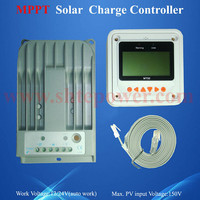 12v 24v dc to dc battery charger 20A solar charge controller mppt with lcd