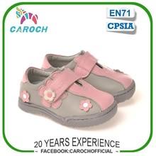 C-6304 marca Durable TPR suela exterior de piel transpirable niños niñas zapatos