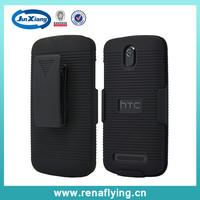 LOW PRICE slide slim armor case combo holster cover for HTC 500