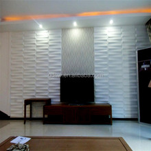 Colored decorative 3D wall paneling