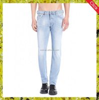 China wholesale white-blue Eco-Friendly Men Jeans casual skinny jean