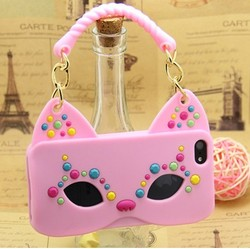 Cat Mask Silicone Mobile Phone Case For IPhone6/5/4, custom made phone cases