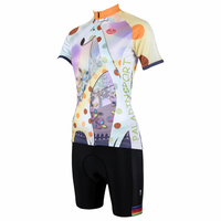 wholesale women Cartoon cycling wear jersey+shorts short sleeve bicycle sets bike clothes ILPaladino #DT-154