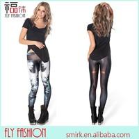 DL803# Wholesale Digital Printed Women frozen solo leggings 3D Printed leggings Free Size