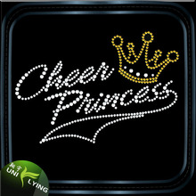 Cheer Princess Crown Rhinestone Transfer Custom Design For Garment