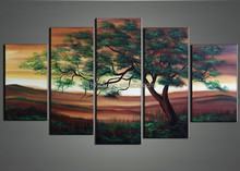Handpainted home decoration tree oil painting 49125