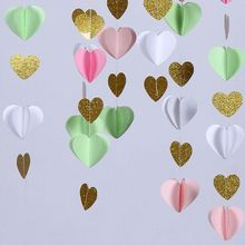 New Products Romantic Wedding Party Decorations 3D Paper Garland