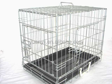 Folding Metal Wire Dog Cage Dog Crate Portable Kennel Puppy Carrier pet cage withTray
