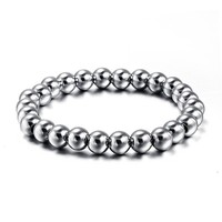 Yiwu Factory Direct Wholesale Popular Men's Products 26 Pieces Bead Bangles Stainless Steel Bracelet