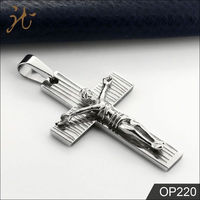 Stainless Steel Jesus Crucifix pendant Cross Charms
