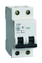 Popular type 2 poles miniature circuit breaker C45B electric circuit breaker prices dc circuit breaker 415V 50hz/60hz MCB