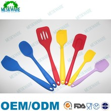 FDA/LFGB approval 7pcs high quality silicone kitchen utensils